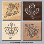 Leaf Wall Art Plaque Set Patterns - Downloadable