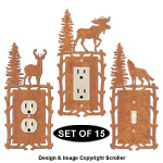 Wildlife Cover Plate Scroll Saw Pattern Set