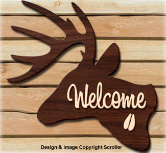 Deer Welcome Sign Pattern