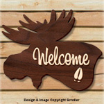 Moose Welcome Sign Pattern