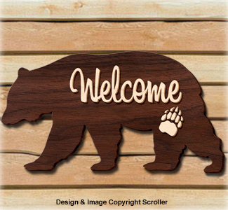 Bear Welcome Sign Pattern