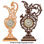 Ornate Pitcher Clock Project Pattern Set