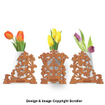 Flower Vase Holder Trio Pattern