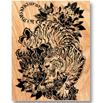 Tiger of India Scrolled Art Design Pattern