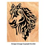 Blazing Horse Scrolled Art Scroll Saw Pattern