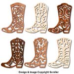 Cowboy Boot Wall Art Designs Scroll Saw Pattern