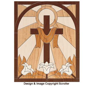 Easter Cross Segmentation Wall Art Scroll Saw Pattern