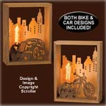 Vintage Vehicle Lighted Designs Scroll Saw Pattern - Downloadable