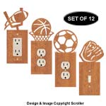 Sports Cover Plate Scroll Saw Pattern Set