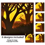 Lighted Wildlife Silhouette Wall Art Design Pattern - Downloadable