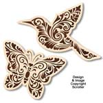 Floral Butterfly & Hummingbird Wall Art Patterns