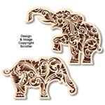 Floral Elephant Wall Art Patterns