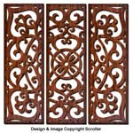 Moroccan 3-Panel Wall Art Design Pattern