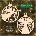 Angel Bulb Ornament Set Patterns