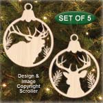Wildlife Bulb Ornament Set Patterns