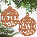 First Christmas Ornaments Pattern Set