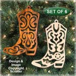 Cowboy Boot Ornaments Pattern - Downloadable