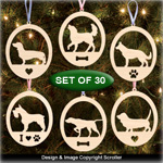 Canine Collection Ornament Pattern Set