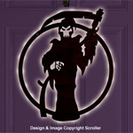 Lighted Grim Reaper Door Decor Design Pattern