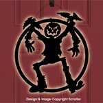 Lighted Scarecrow Door Decor Design Pattern