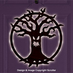 Lighted Spooky Tree Door Decor Design Pattern