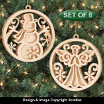 3D Christmas Ornaments Design Pattern