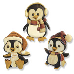 Penguin Ornament Collection Intarsia Design Patterns