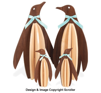 Slotted Penguin Family Shelf Sitters Pattern - Downloadable