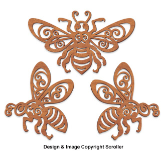 Decorative Bee Wall Art Design Patterns