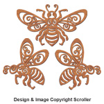 Decorative Bee Wall Art Design Patterns - Downloadable