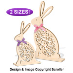 Ornate Easter Bunny Sitter Pattern Set