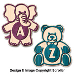 Baby Initial Wall Plaques Pattern
