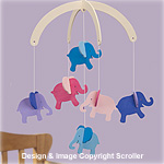 Elephant Baby Mobile Pattern