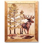 Wilderness Moose Intarsia Design Pattern