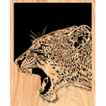 Lioness Scrolled Art Design Pattern