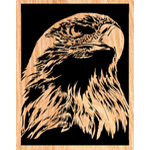 Proud Eagle Scrolled Art Design Pattern