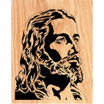 The Savior Scrolled Portrait Art Design Pattern