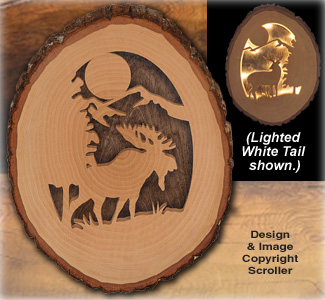 Lighted Moose Round Pattern