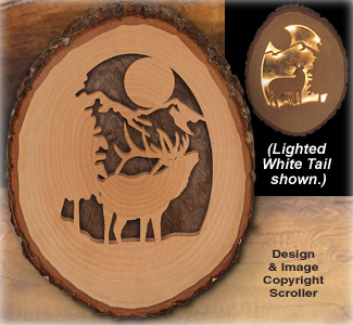 Lighted Elk Round Pattern