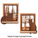 Window Cat Wall Decor Pattern