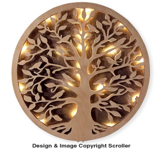 Lighted Tree of Life Wall Art Pattern