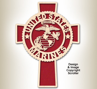 Marines Honor & Faith Wall Cross Design Pattern