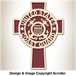 Coast Guard Honor & Faith Wall Cross Design Pattern