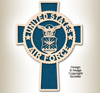 Air Force Honor & Faith Wall Cross Design Pattern