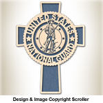 National Guard Honor & Faith Wall Cross Design Pattern