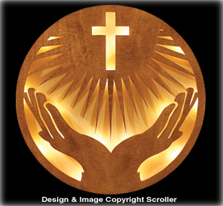 Lighted Praise Be to God Wall Art Pattern
