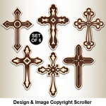 Layered Deco-Art Cross Designs Pattern - Downloadable