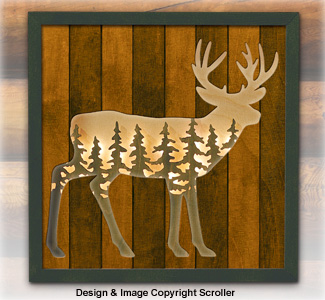 Whtetail Lighted Wilderness Wall Art Pattern