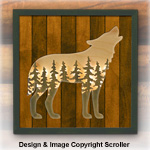 Wolf Lighted Wilderness Wall Art Pattern