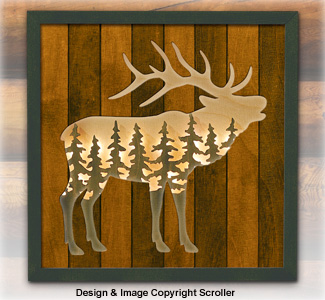 Elk Lighted Wilderness Wall Art Pattern